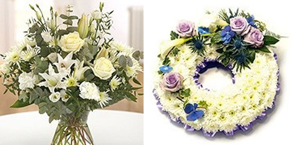 Pure Bouquet and Open Round Wreath