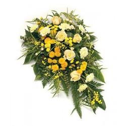 Single Ended Rose & Chrysanthemum Spray